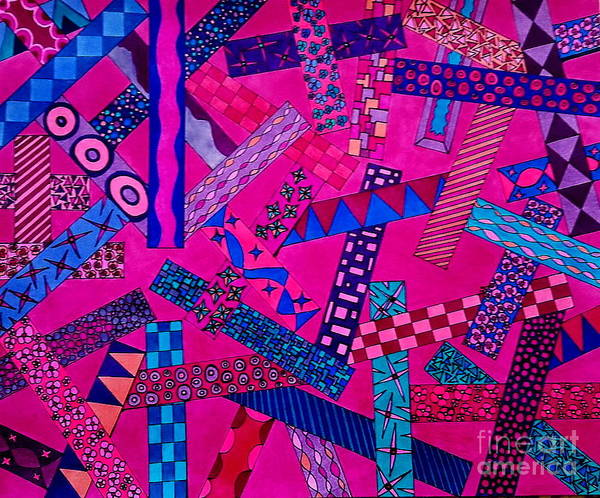 Wall Art - Drawing - Color Bars At Art World  by Neal Alicakos