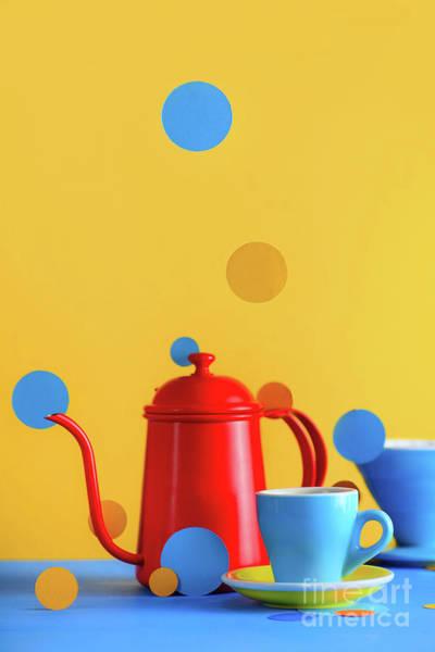 Wall Art - Photograph - Color Block Coffee Equipment Still by Dina Belenko Photography