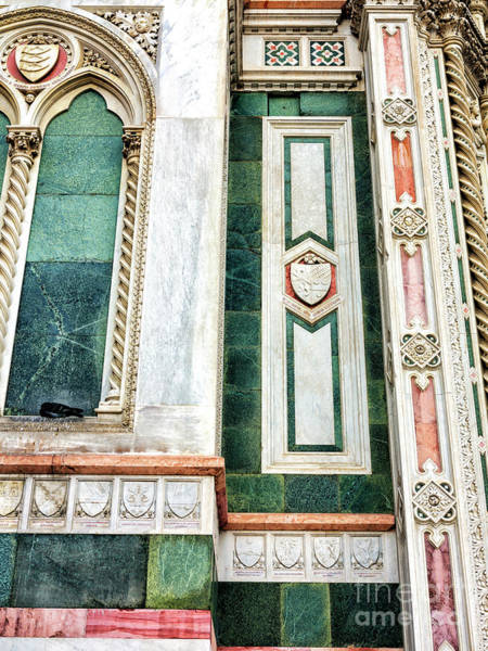 Photograph - Color Details Of The Duomo In Florence by John Rizzuto