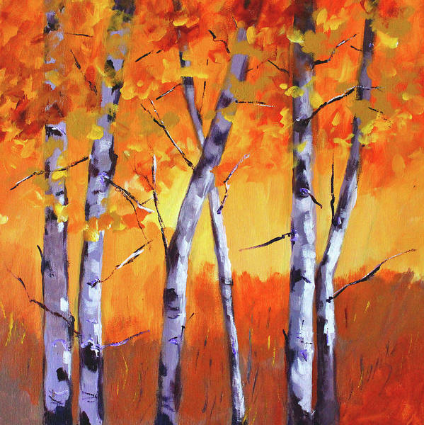 Wall Art - Painting - Color Forest Landscape by Nancy Merkle