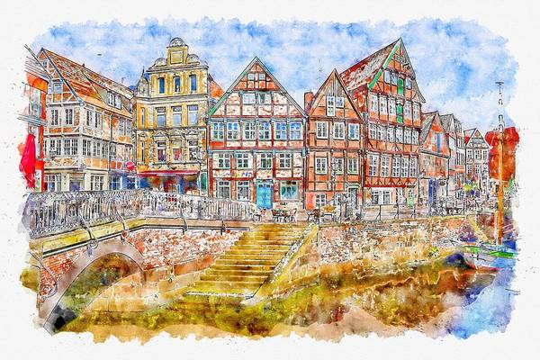 Amsterdam Painting - Color House by ArtMarketJapan