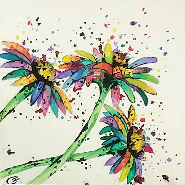 Wall Art - Painting - Color Me Daisy by Hannah Claire