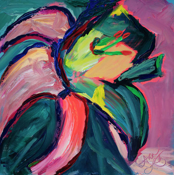 Wall Art - Painting - Color Me Iris by Ann Lutz