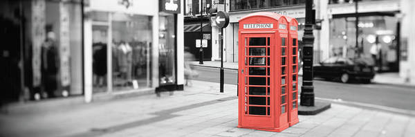 London Phone Booth Wall Art - Photograph - Color Pop, Phone Booth, London by Panoramic Images