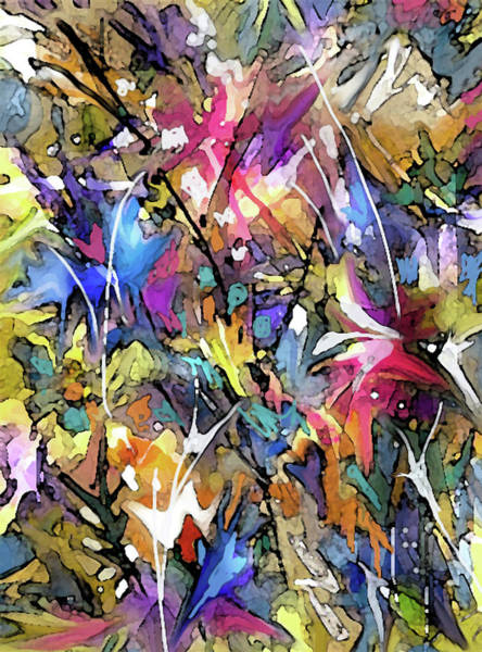 Digital Art - Color Splashes by Jean Batzell Fitzgerald