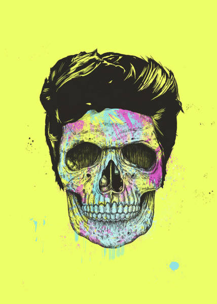 Cool Mixed Media - Color Your Skull by Balazs Solti