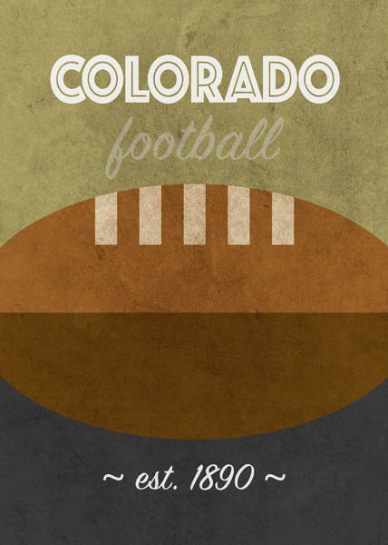 Wall Art - Mixed Media - Colorado College Football Team Vintage Retro Poster by Design Turnpike