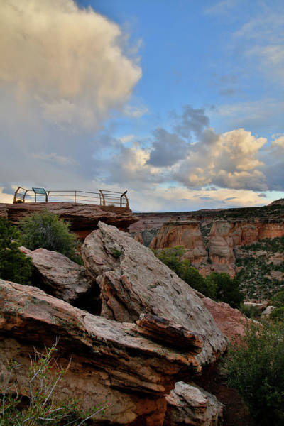 Photograph - Colorado National Monument's Grand View Point Overlook by Ray Mathis