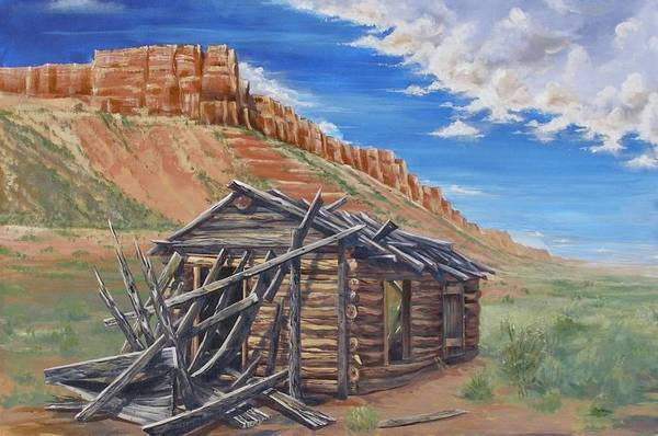 Painting - Colorado Prarie Cabin by Alan Johnson