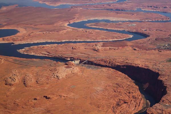 Wall Art - Photograph - Colorado River And Glen Canyon Dam by Raquel Lonas