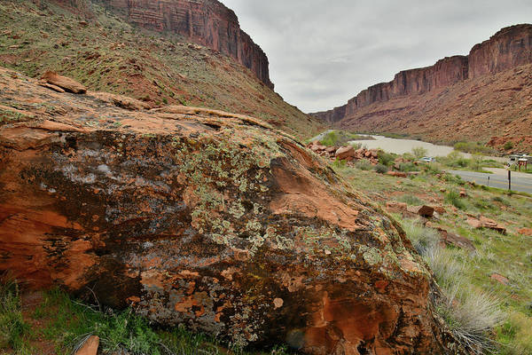 Photograph - Colorado River Heads Into Moab Utah by Ray Mathis