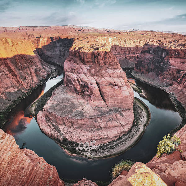 Photograph - Colorado River Winding Around Horseshoe Bend by Gregory Ballos