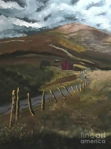 Fencepost Painting - Colorado Rockies  by Julie Reid