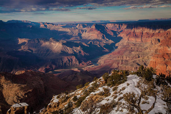 North Rim Photograph - Colorado Rover And The Grand Canyon by Bob Pool