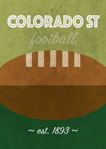 Wall Art - Mixed Media - Colorado State College Football Team Vintage Retro Poster by Design Turnpike