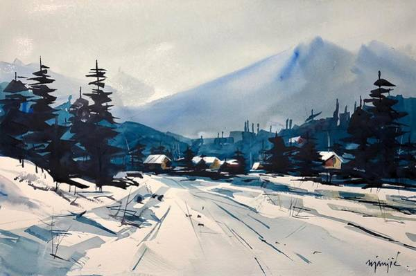 Wall Art - Painting - Colorado Winter #16 by Ugljesa Janjic