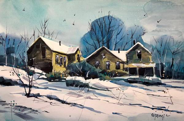 Wall Art - Painting - Colorado Winter #17 by Ugljesa Janjic