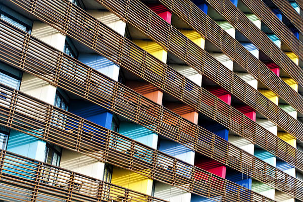 Wall Art - Photograph - Colored Building. Natural Pattern by Serkan Mutan