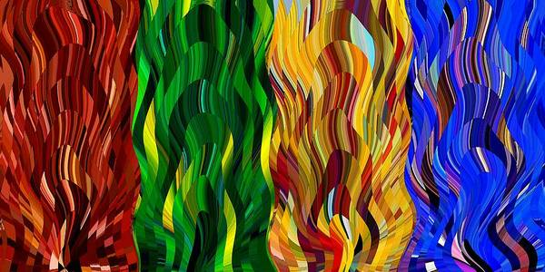 Digital Art - Colored Fire by David Manlove