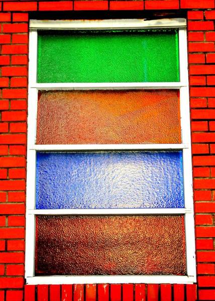 Photograph - Colored Glass Panes by Cynthia Guinn