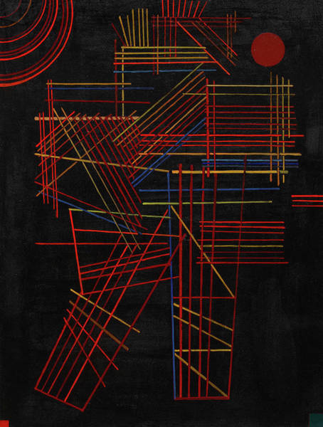 Constructivism Painting - Colored Sticks, 1928 by Wassily Kandinsky