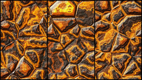 Digital Art - Colored Stone Hdr Triptych by Don Northup