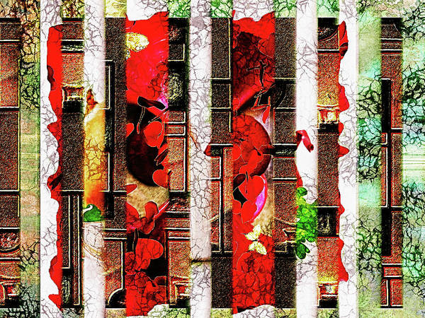 Wall Art - Mixed Media - Colored Windows by Paula Ayers