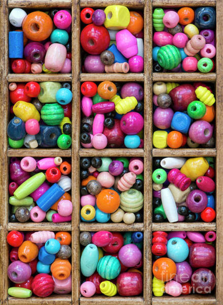 Wall Art - Photograph - Colored Wooden Beads by Tim Gainey