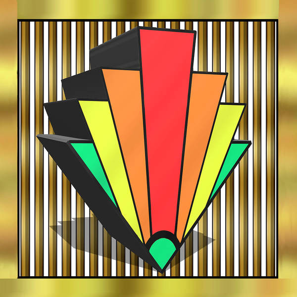 Digital Art - Colorful 3d Chevron  by Chuck Staley