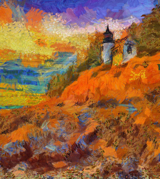 Painting - Colorful Abstract Bass Harbor Sunset by Dan Sproul