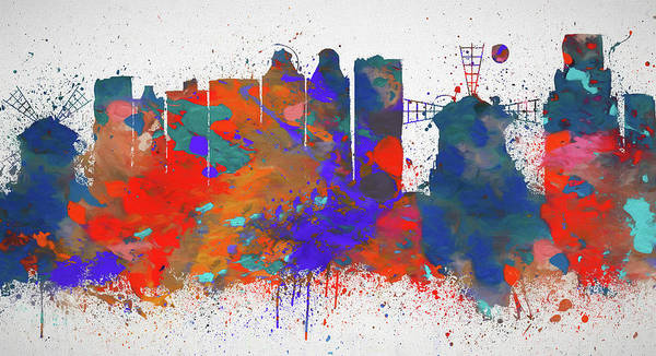 Painting - Colorful Amsterdam Skyline by Dan Sproul