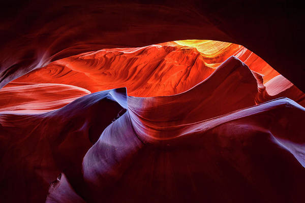 Photograph - Colorful Antelope Canyon Lights by Gregory Ballos