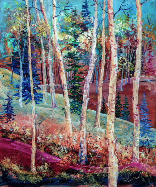 Painting - Colorful Aspen by Connie Williams