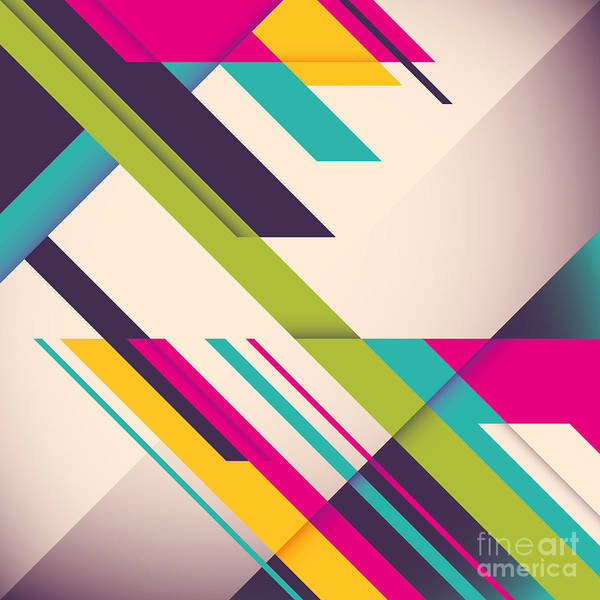 Cover Wall Art - Digital Art - Colorful Background With Designed by Radoman Durkovic