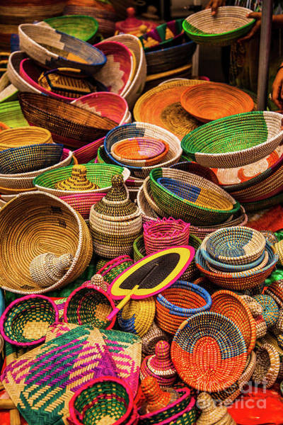 Wall Art - Photograph - Colorful Baskets, New York City, Usa by Stevan Dobrojevic