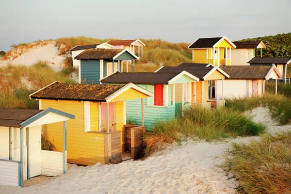 Skane Photograph - Colorful Bathing Huts by Elliot Elliot