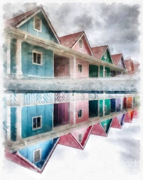 Wall Art - Photograph - Colorful Beach Cottages by Edward Fielding