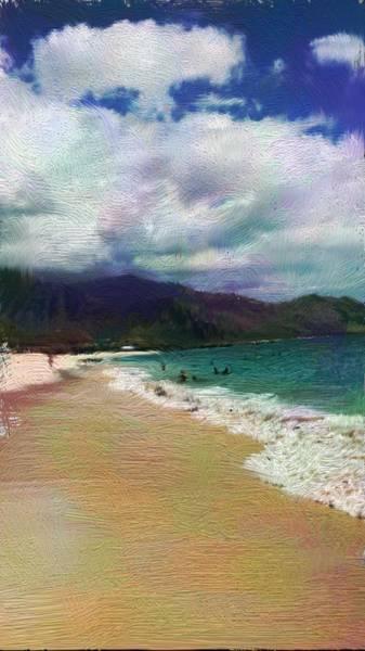 Digital Art - Colorful Beach by Karen Nicholson