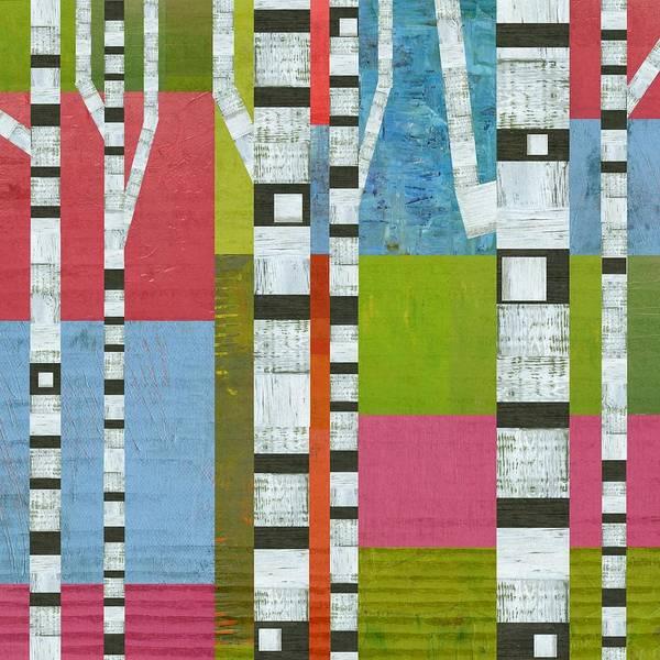 Digital Art - Colorful Birches by Michelle Calkins