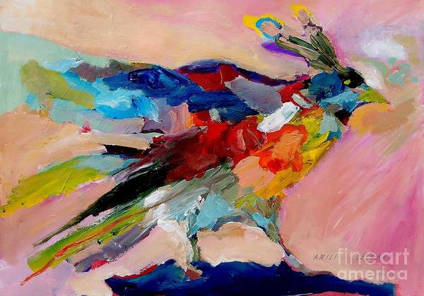 Wall Art - Painting - Colorful Bird, Spring Art by Amili Gelbman
