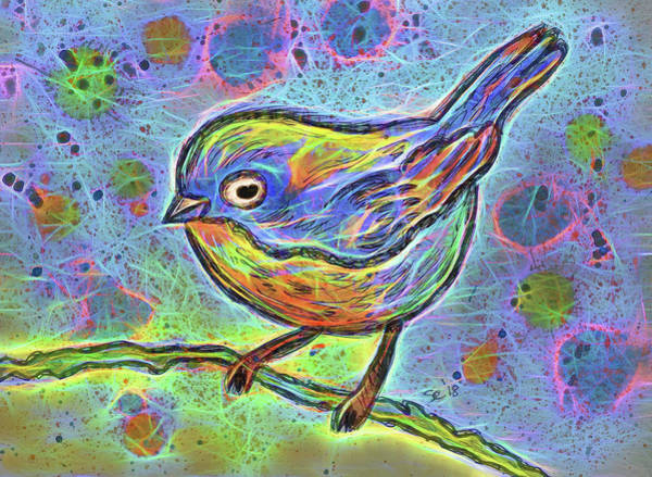Painting - Colorful Bird by Susan Campbell
