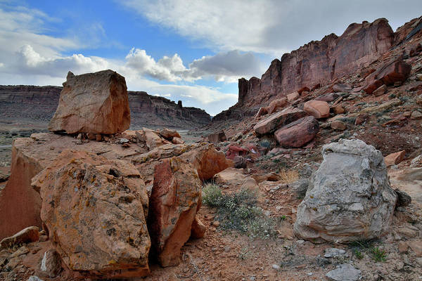 Photograph - Colorful Boulder Fields Along Utah's 313 by Ray Mathis