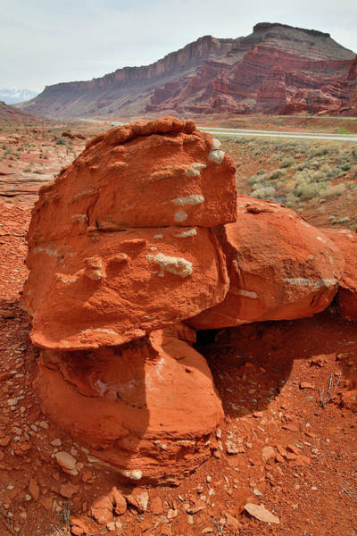 Photograph - Colorful Boulder Stack Along Utah 191 by Ray Mathis