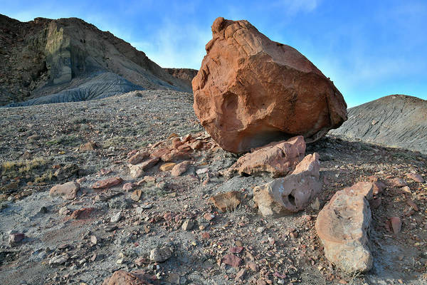 Photograph - Colorful Boulders Along I-70 In Utah by Ray Mathis