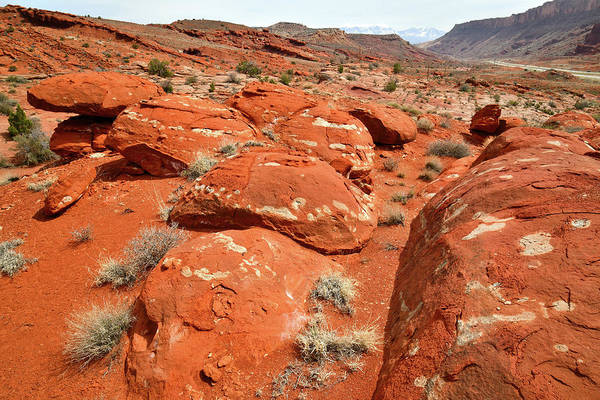 Photograph - Colorful Boulders Along Utah Highway 191 by Ray Mathis