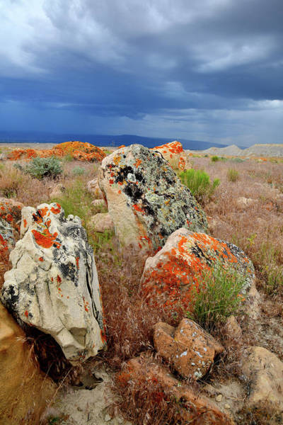 Photograph - Colorful Boulders Beneath Book Cliff Storm by Ray Mathis