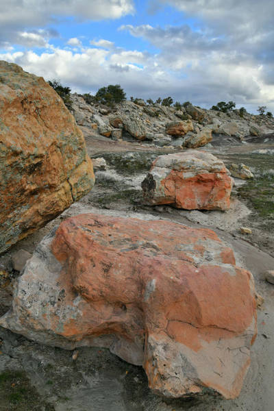 Photograph - Colorful Boulders In Blm Bentonite Site by Ray Mathis