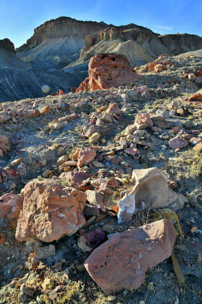 Photograph - Colorful Boulders In Utah Desert Along I-70 by Ray Mathis