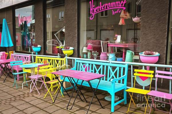 Wall Art - Photograph - Colorful Cafe In Svolvaer by Eva Lechner