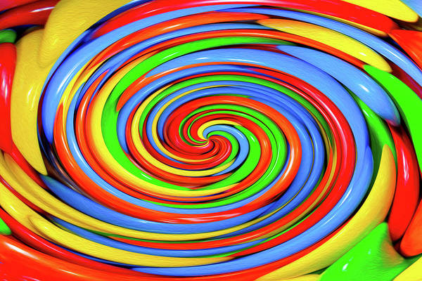 Photograph - Colorful Candy Twirl by SR Green